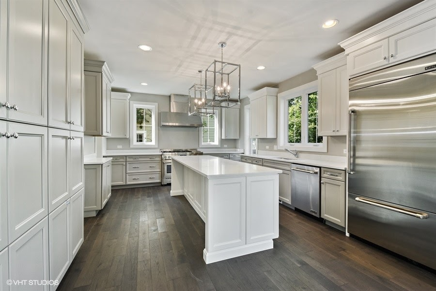 Silver/Light Grey Kitchen of 748 Prairie Avenue, Barrington
