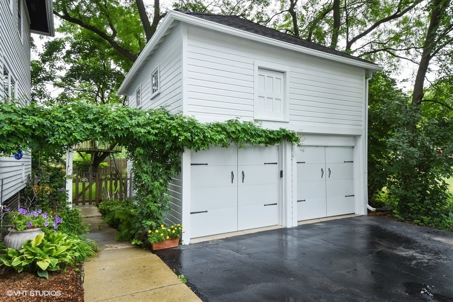 Curb appeal updated by garage